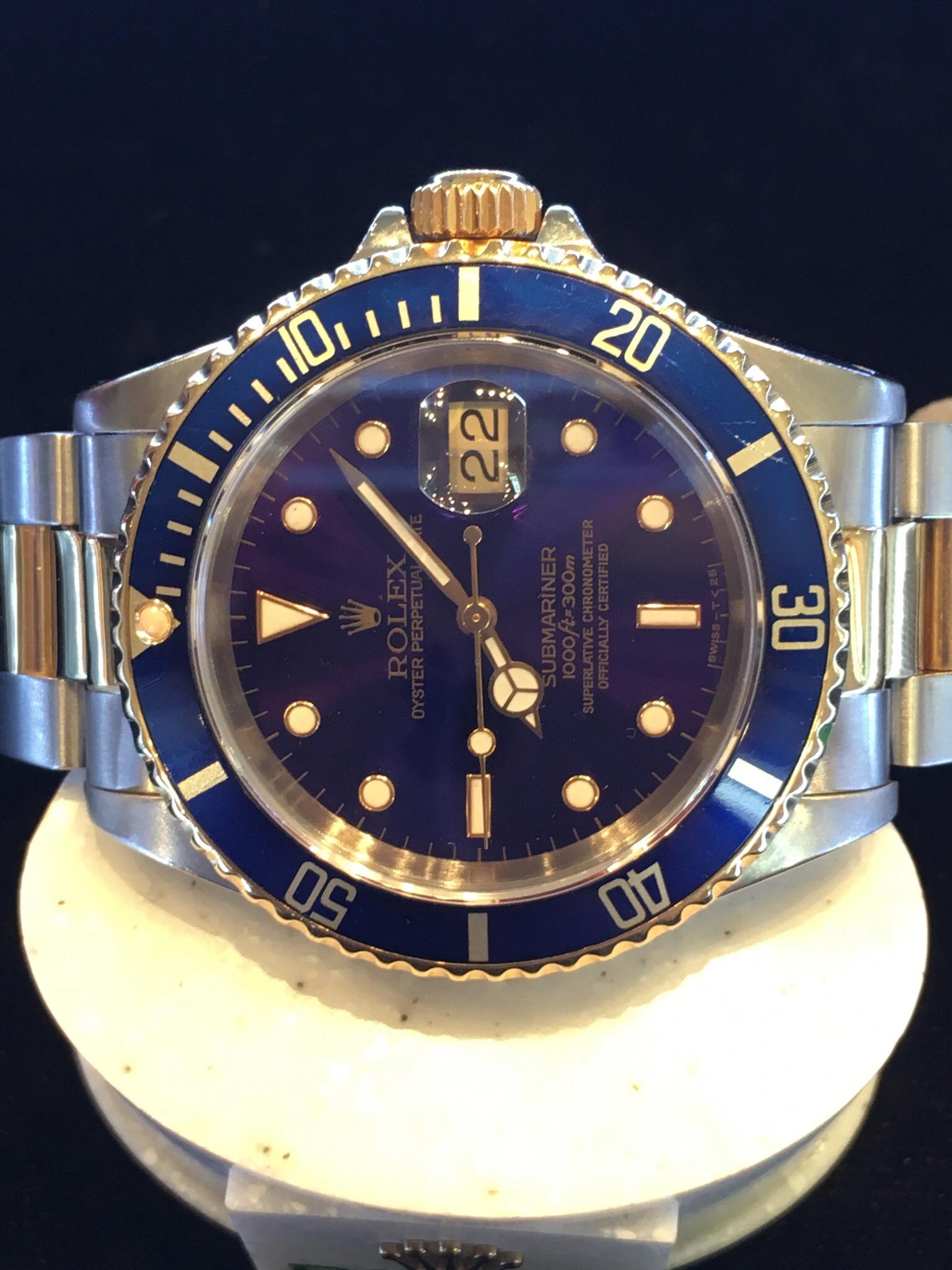 0e4672801e8 Bi-metal Rolex Oyster Perpetual Submariner Date 16613. Automatic ...