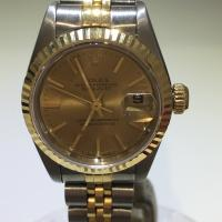 1992/93 69173 Rolex oyster perpetual Datejust , steel and gold, champagne dial with gold batons on steel and gold Rolex jubilee bracelet. 26mm case