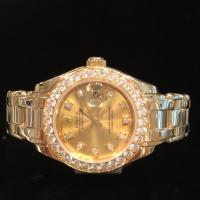 69298 18ct yellow gold and Diamond Rolex  Pearlmas