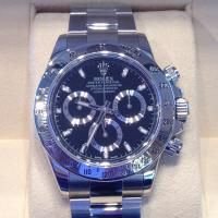 2010 Rolex  oyster perpetual Cosmograph Daytona in steel with black dial, 40mm case steel oyster bracelet with box and papers
