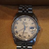 16234 steel Rolex Oyster Perpetual Datejust White