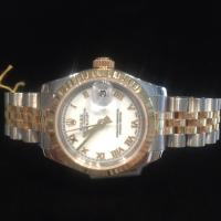 Steel and gold Ladies Rolex Datejust with white di