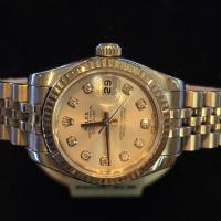 179174 Rolex oyster perpetual Datejust with diamon